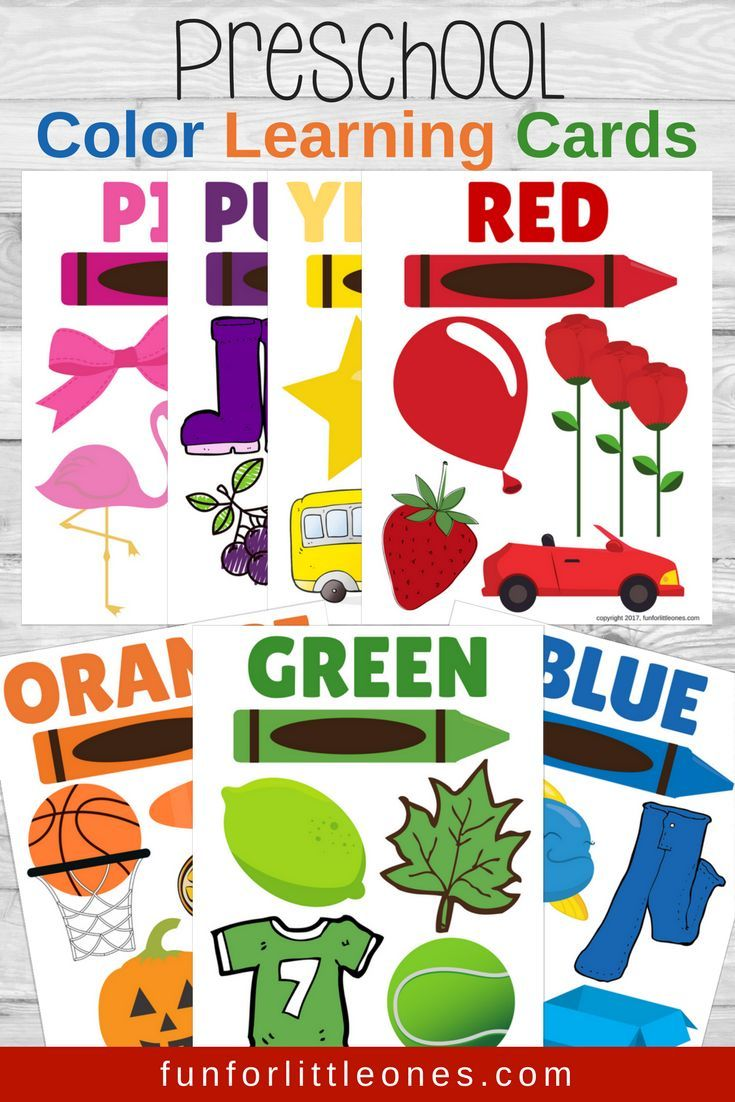 image about Printable Color Flashcards for Toddlers named Preschool Coloration Understanding Playing cards (Absolutely free Printable) Connar