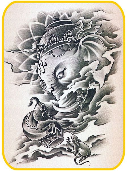 27 best images about ganesh on pinterest other colors and tattoo stencils. Black Bedroom Furniture Sets. Home Design Ideas