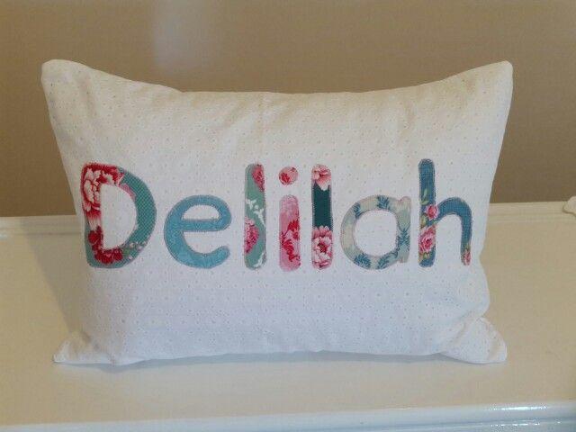 Cushion for Delilah's christening