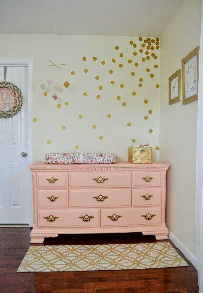M s de 25 ideas incre bles sobre dormitorio de lunares en - Vinilos lunares dorados ...