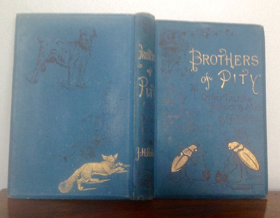 A charming book entitled Brothers of Pity & Other Tales of Beasts & Men by Juliana Horatia Ewing, published by The Society for Promoting Christian Knowledge in 1884.   The book has two handwritten inscriptions inside the cover, dated 1899 and 1903 and another on the next page in. The five stories, Brothers of Pity, Father Hedgehog and His Neighbours, Toots and Boots, The Hens of Hencastle. And. Flaps, amount to 199 pages, after which there are a further 6 pages of other titles by the same…