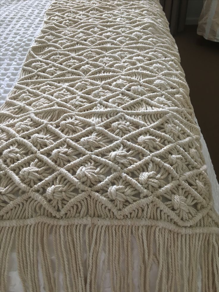 Macrame Bed Runner Shop On Line Www Oceannomadaustralia