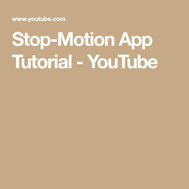 Stop-Motion App Tutorial - YouTube