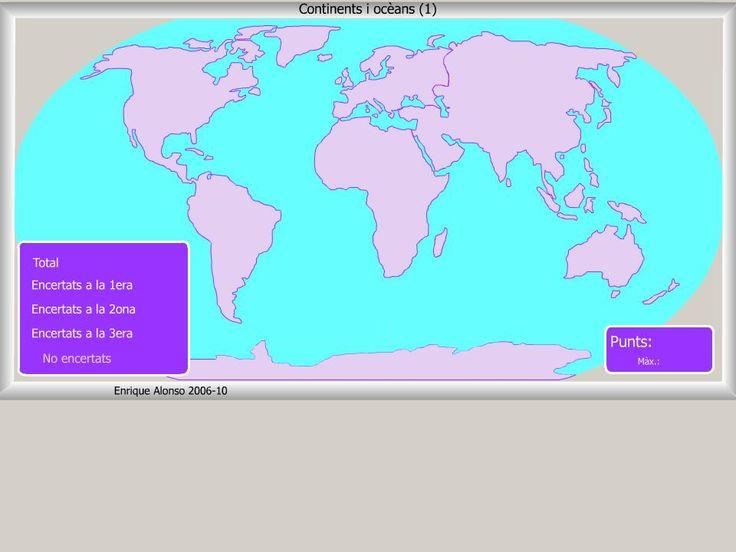 NATURALS AL CARLES SALVADOR: Mapes Flash interactius: continents i Oceans