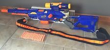 Nerf N-Strike Long Strike CS-6 Sniper Rifle Gun Scope Clip Bandolier Nice!