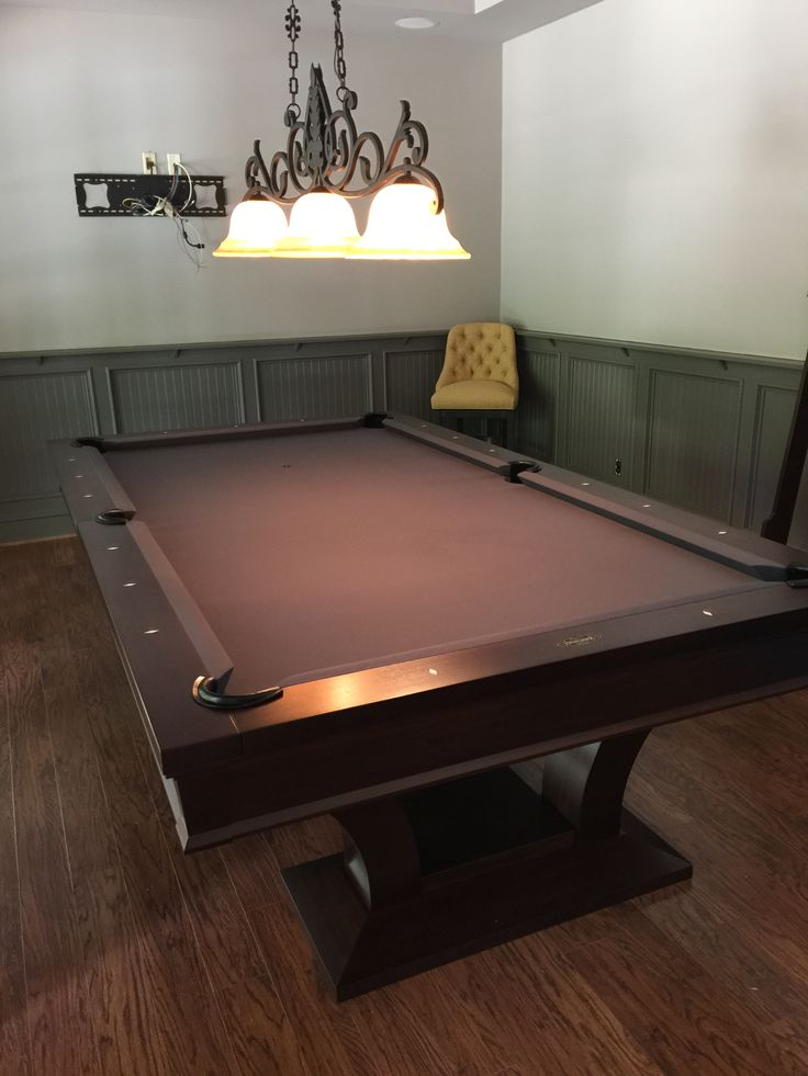 The Brunswick Treviso Pool Table. From Everything Billiards. Installed In  Charlotte, NC,