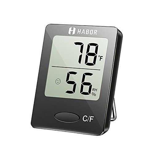 Habor Hygrometer Thermometer Digital Indoor Humidity Monitor Humidity Gauge Humidity Meter with Standing Wall Hanging Magnet for Humidifiers Dehumidifiers Greenhouse Basement Babyroom, Black #Habor #Hygrometer #Thermometer #Digital #Indoor #Humidity #Monitor #Gauge #Meter #with #Standing #Wall #Hanging #Magnet #Humidifiers #Dehumidifiers #Greenhouse #Basement #Babyroom, #Black