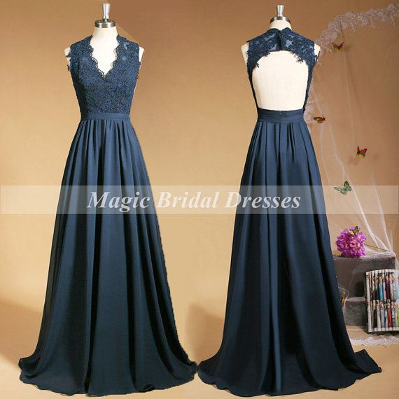 Mode Dark Navy 2015 de robe de soirée par MagicBridalDresses