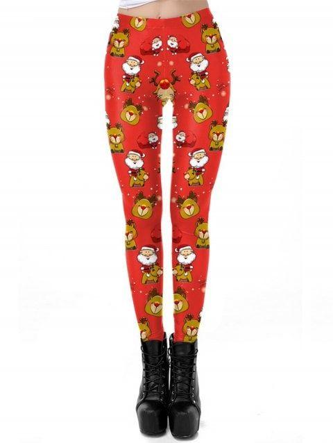 2adac12dff94 Women Christmas Leggings 3D Design Printing Elastic Yoga Pants - RED. Click  to buy!