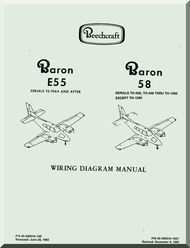 beechcraft baron e 55 58 aircraft wiring diagram manual aircraft rh pinterest com