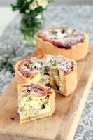Easy-to-make vegetable and feta quiche