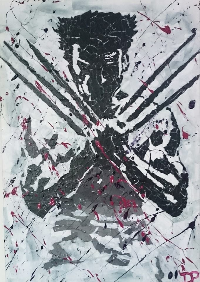 Wolverine mixed media by Don Pennings
