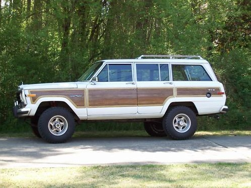 Jeep : Wagoneer  - from the 80's or early 90's with wood trim please....