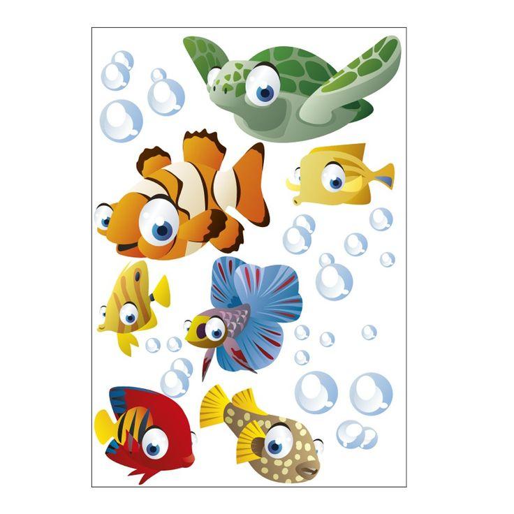 Best Wandsticker Fische Ozean Wandtattoo Fr Kinder Badezimmer Junge With  Wandtattoos Fr Badezimmer