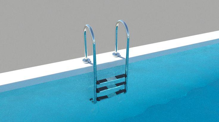 Pack die Badehose ein! Getreu dem Motto eröffne ich hiermit eine kleine Serie rund um das Thema Baden. Diese und in den nächsten Wochen werde ich selbst modellierte Pool Leitern für ARCHLine.XP und Thea Render veröffentlichen. Den Anfang macht eine konventionelle Pool Leiter für ARCHLine.XP und Thea Render