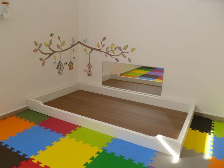 espelho acrílico quarto do bebê neném - montessoriano