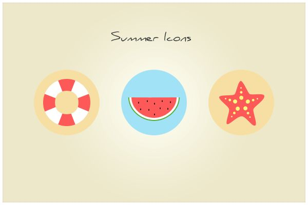 130 Summer Icons (freebie by pixelcave)