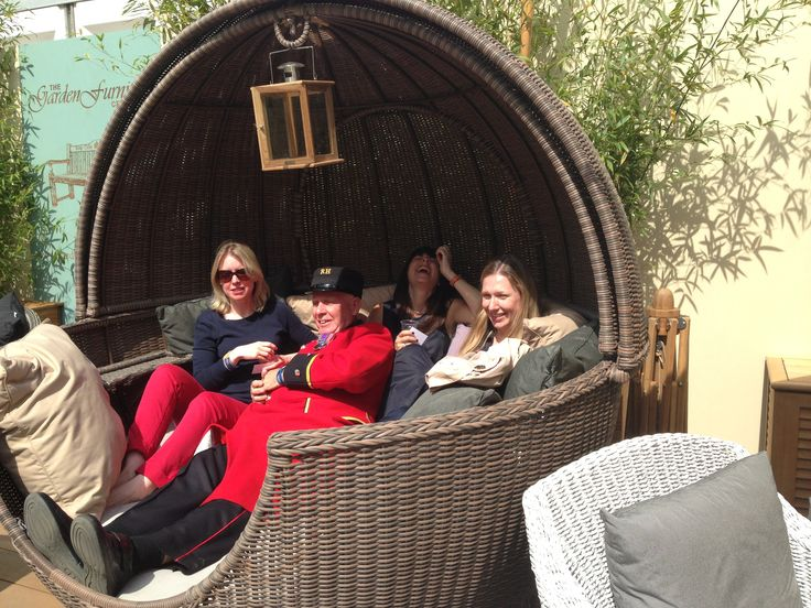 Infact.....this is the rotating daybed at Chelsea Flower Show