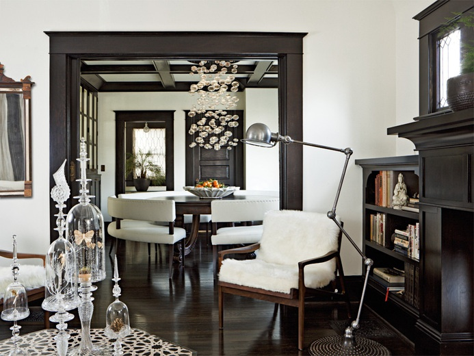 dont really see dark trim anymore - Dining Room Paint Colors Dark Wood Trim