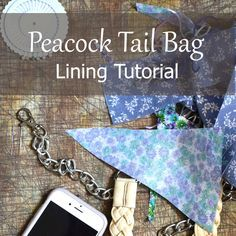 How to line Peacock Tail Bag with fabric and magnetic clasp - step by step tutorial with pictures by Lilla Bjorn Crochet
