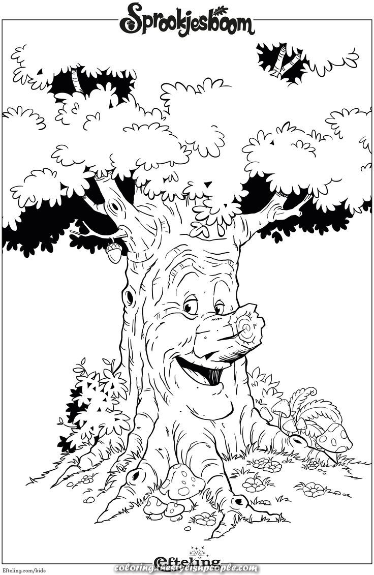 Beautiful Fairytale Tree Coloring Efteling Coloring Pages Fairy Tales Coloring Pictures