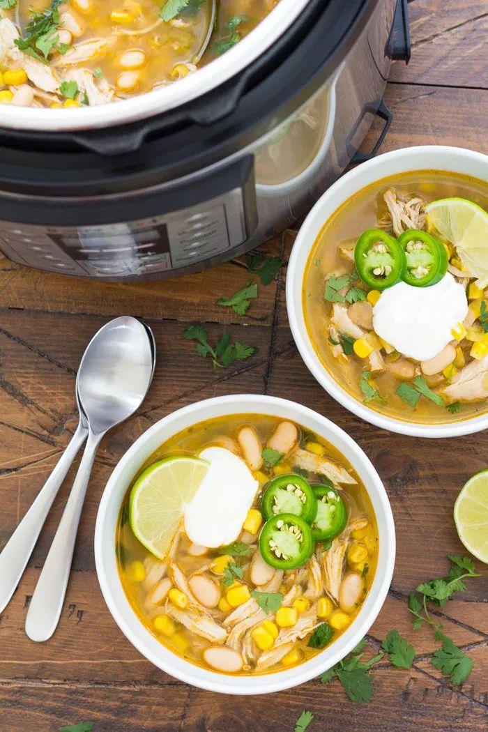 Delicious Instant Pot White Chicken Chili, perfect for ...