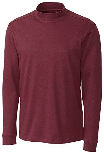 Cutter  Buck Mens Long Sleeve Pima Belfair Mock Tee Sleigh XXLarge >>> To view further for this item, visit the image link. Note:It is Affiliate Link to Amazon.