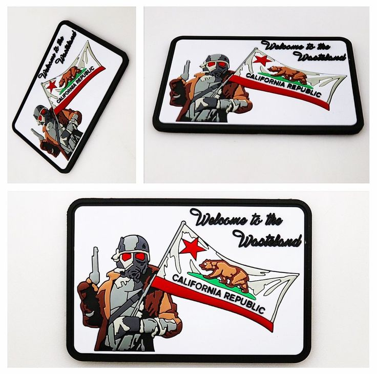 California Republic - Welcome to the Wasteland pvc patch $15