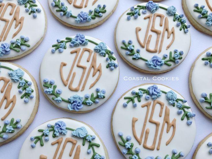 159 Best Monogram Cookies Images On Pinterest Cookies