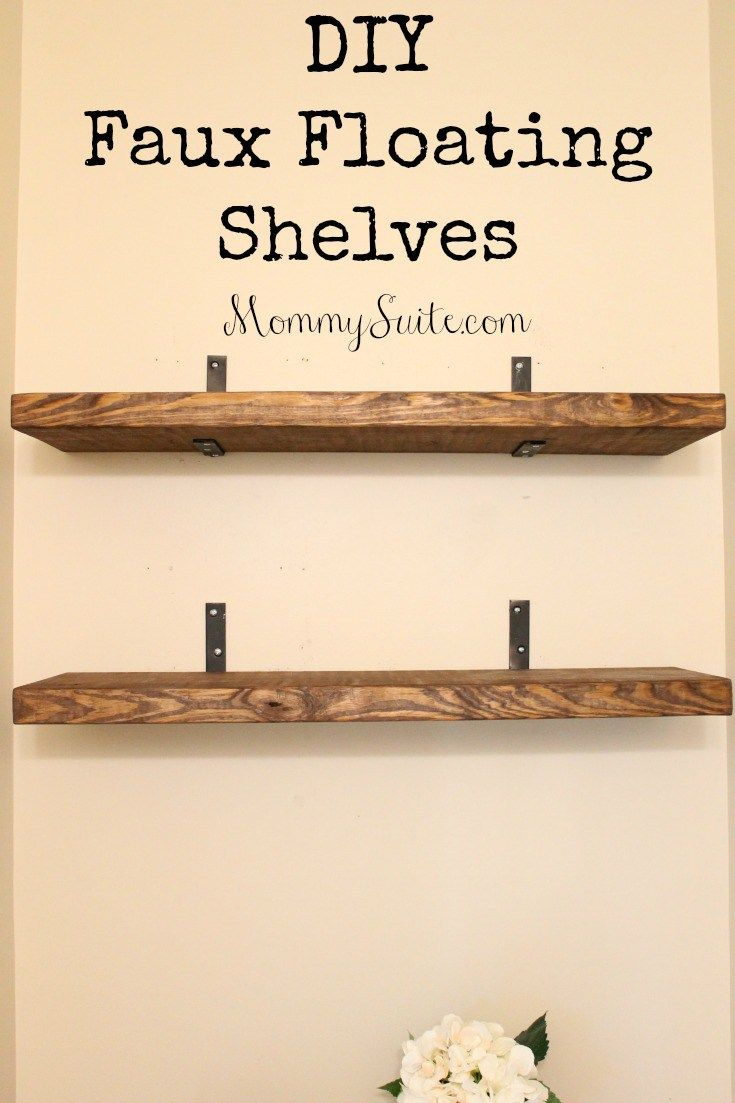Diy faux floating shelves shelves house and room for How to build a wall bar