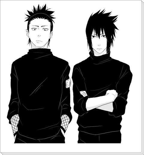 Shikamaru Nara and Sasuke Uchiha.
