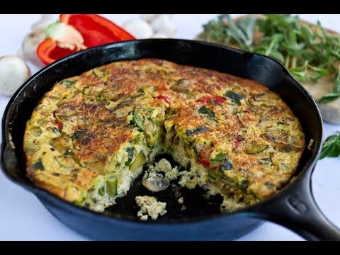 Vegetable Frittata | Ornish Reversal Program - YouTube