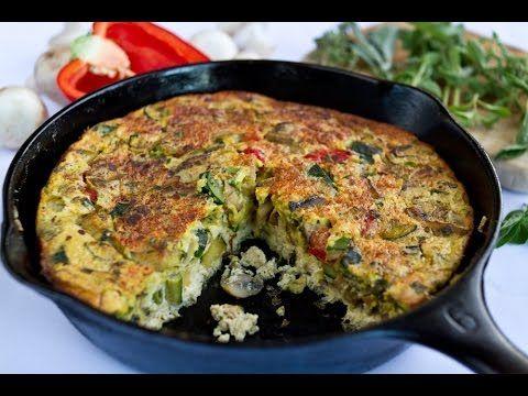 Vegetable Frittata | Ornish Reversal Program - YouTube