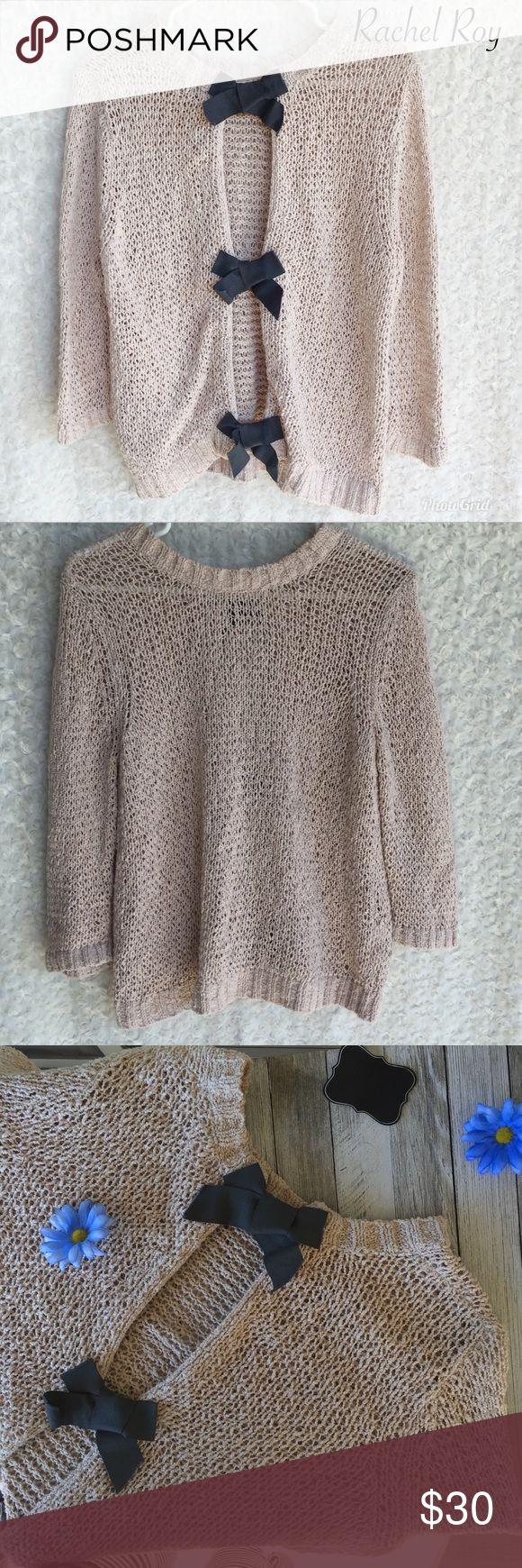Rachel Rachel Roy sweater!! So cute Rachel Roy sweater great condition with black bows!! RACHEL Rachel Roy Tops Sweatshirts & Hoodies