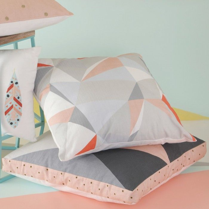 Scandi Geometric Box Cushion 50x50 | Cushions & Throws | Homeware - Me and My Trend