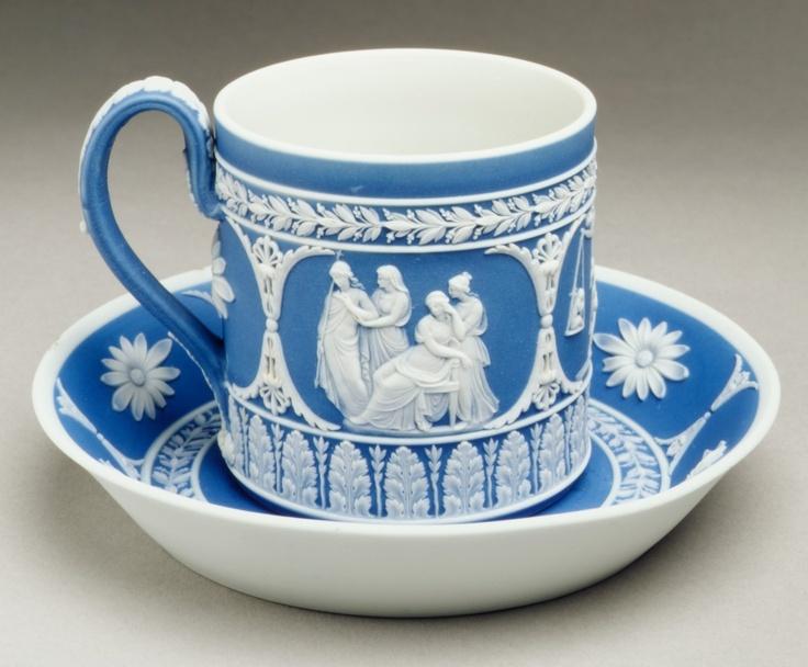 Cup and saucer Josiah Wedgwood and Sons  (1759–present) Date: ca. 1790–1800 Culture: British, Etruria, Staffordshire Medium: Jasperware