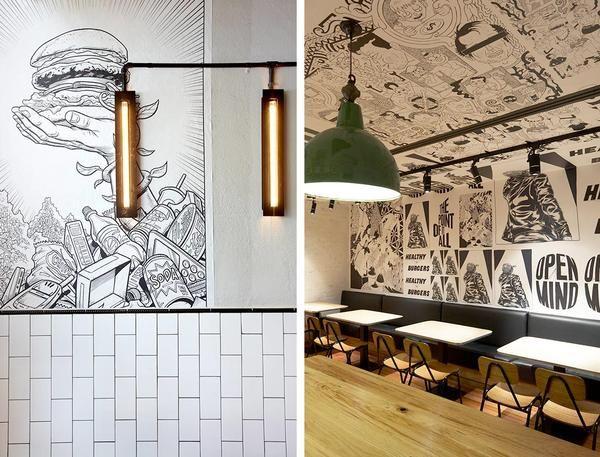 20 Of The Best Wall Murals In Restaurants Around The World