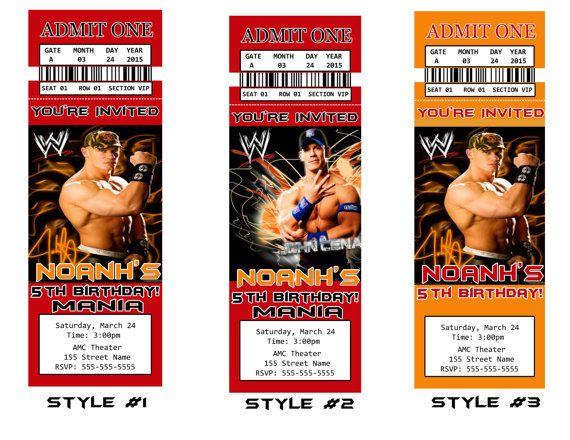 WWE Fan Ticket Invitation / WWE Ticket Invitation by DigitalWorld1