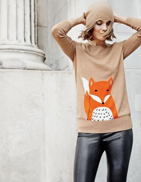 Boden Animal Intarsia Jumper. Cheer up the dullest of days with these fun animal jumpers. The only question is: which one to get? (Shop with 25% off until Thursday)