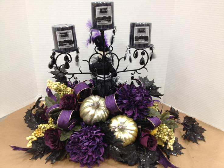 backside of victorian halloween centerpiece christian rebollo - Halloween Centerpieces