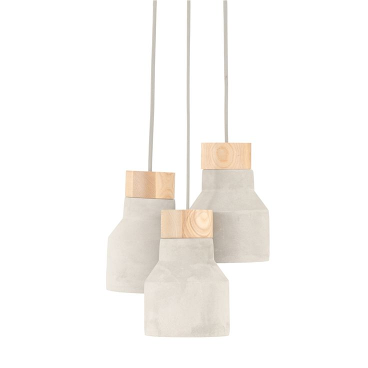 ceiling pendant cement and wood