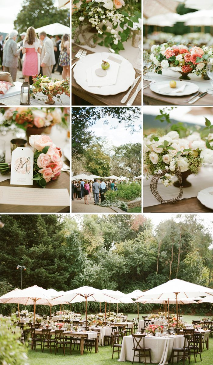 The Outdoor Reception Was Perfectly Decorated With Flower