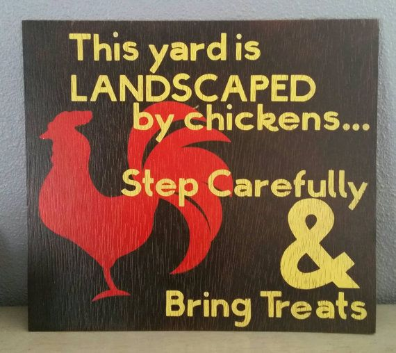 Chicken yard sign for Chicken Lovers This by SerendipitybySummer