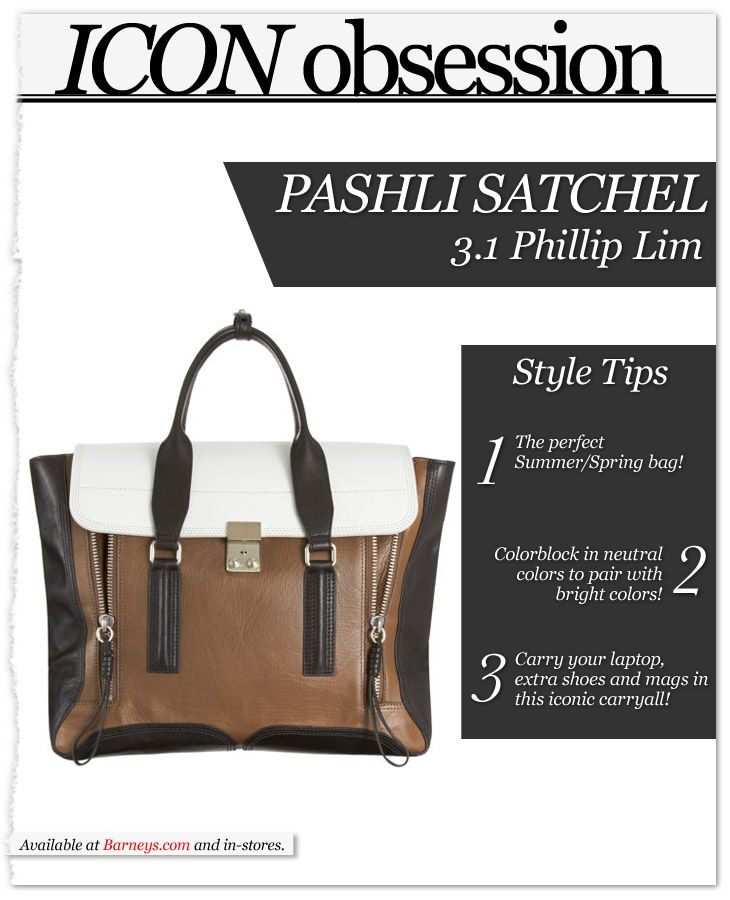 Icon Obsession: Pashli colo rblock Satchel by @31PhillipLim! http://bit.ly/IkEmyx #fashion #accessories #shopping
