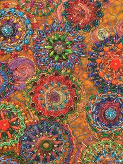 Beaded Quilts....I would use this needlework medium for a pillow top or frame it....