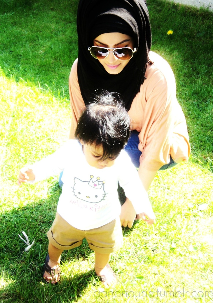 nice hijab style with glasses