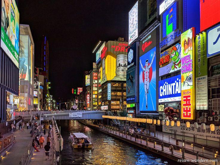 Die Glico Leuchtreklame in Osaka gehört zu den be…
