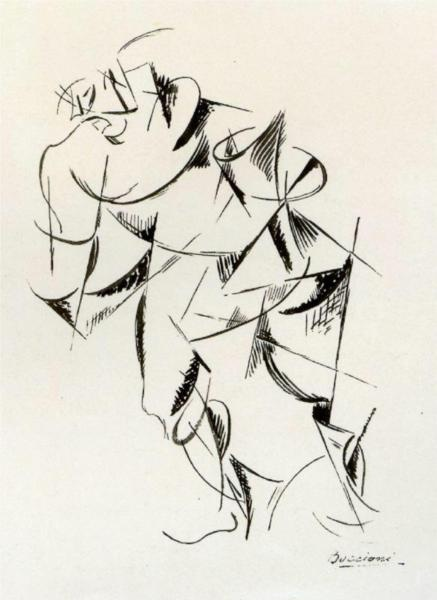 Dynamism of the human body: Boxer, 1913  Umberto Boccioni