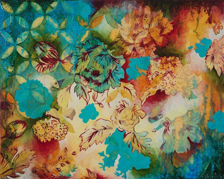 Heather Robinson's mixed media captures joy on canvas