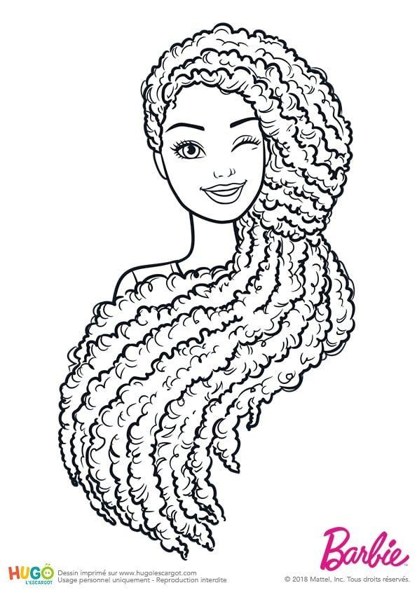 Coloriage et illustration Barbie Fashionistas, portrait